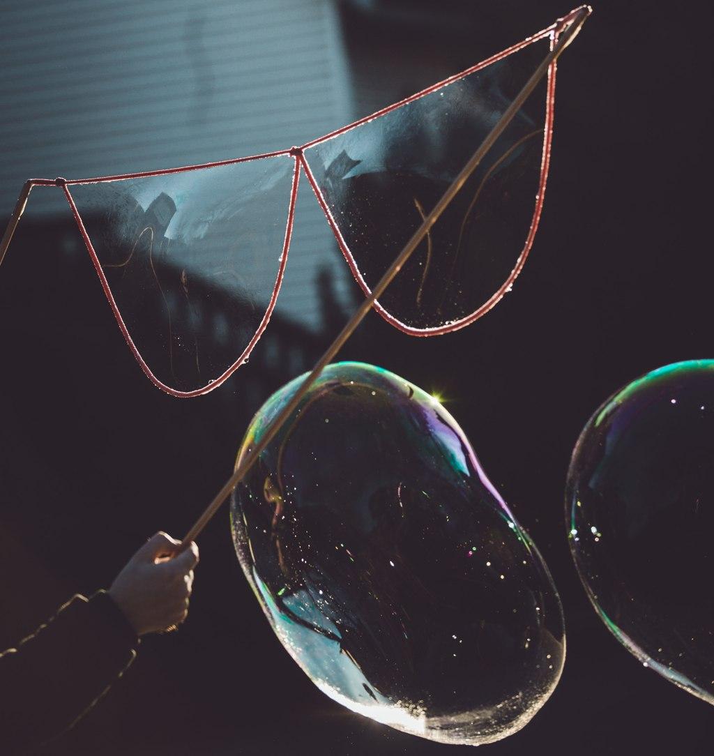 Bańkownica Okulary drewniana